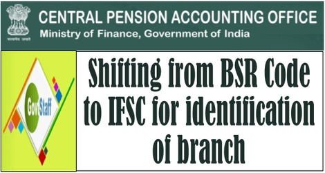 CPAO: Shifting from BSR Code to IFSC for identification of branch