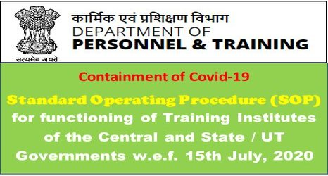 DoPT OM: Re-opening of Training Institutions of Central / State Governments – Standard Operative System – reg.