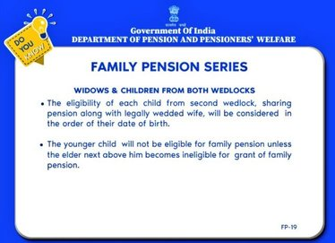 Family Pension will be paid to children in order of their birth