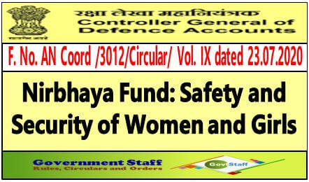Framework of Nirbhaya Fund: Safety and Security of Women and Girls