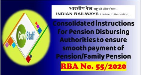 Pension/Family Pension: Consolidated instructions for Pension Disbursing Authorities to ensure smooth payments