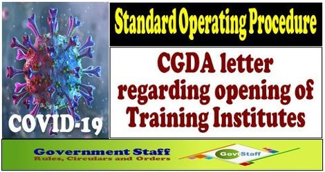 Standard Operating Procedure for Containment of COVID-19 : CGDA letter dated 06-07-2020