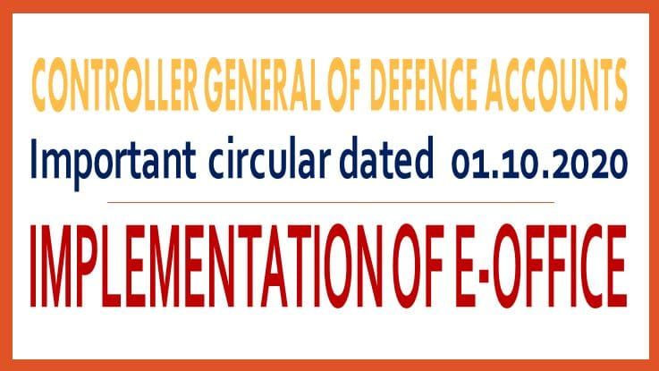 Implementation of e-Office – CGDA Circular