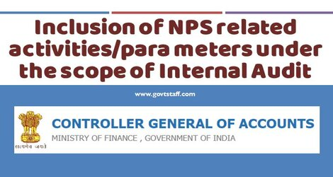 CGA OM : Inclusion of NPS related activities/para meters under the scope of Internal Audit