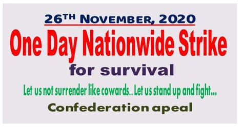 Nationwide Strike on 26th November 2020 for Survival of entire working class