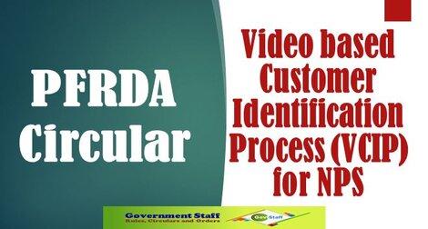 PFRDA Circular: Video based Customer Identification Process (VCIP) for NPS