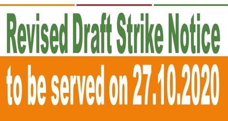 Revised Draft Strike Notice to be served on 27th October 2020