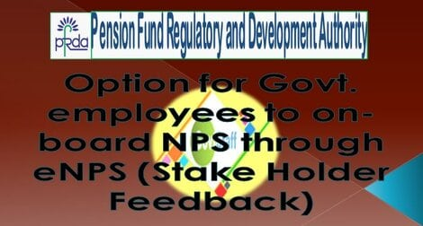 PFRDA Circular: Option for Govt employees to on-board NPS through eNPS