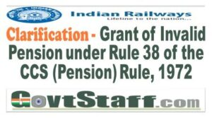 railway-board-grant-of-invalid-pension-under-rule-38-of-the-ccs-pension-rule-1972-clarification