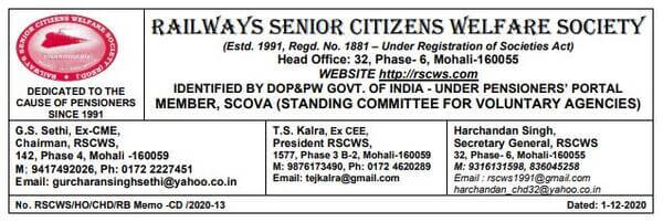 Request for Issuing of comprehensive updated list of chronic diseases due to urgent necessity in view of COVID-19 – RSCWS