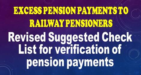 Revised Suggested Check List for verification of pension payments: Railway Board RBA No. 88/2020