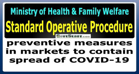 Standard Operating Procedure (SOP) on preventive measures in markets to contain spread of COVID-19