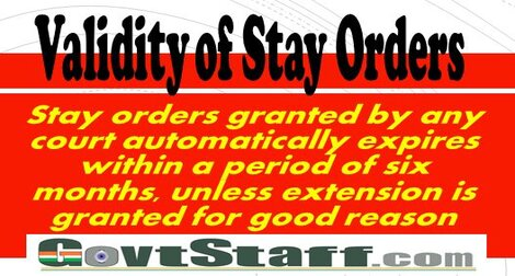 Hon'ble Supreme Court Important Order on Validity of Stay Orders