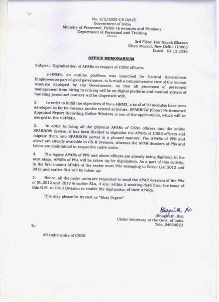 digitalisation-of-apars-dopt-seeks-apar-dossiers-in-respect-of-all-csss-officers