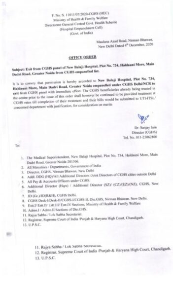 new-balaji-hospital-greater-noida-exit-from-cghs-empanelled-list