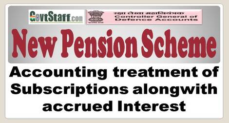 New Pension Scheme – Accounting treatment of Subscriptions alongwith accrued Interest