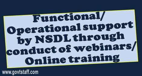 Functional/ operational support by NSDL through conduct of webinars/ Online training