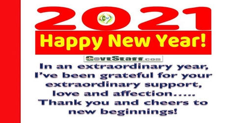 Happy New Year 2021 – Year of hope
