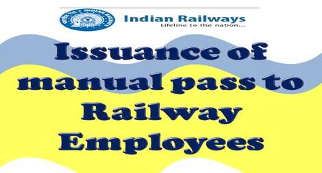 Issuance of manual pass to Railway Employees – Last date extended till 28.02.2021 in emergent cases