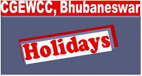 List of Compulsory Holidays and Restricted Holidays for Central Govt. Offices in Odisha: CGEWCC Bhubaneswar