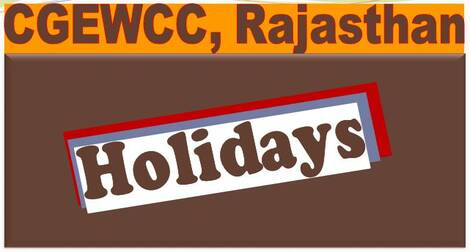 List of Holidays for year 2021 in the Central Govt. offices located in Rajasthan – CGEWCC Jaipur