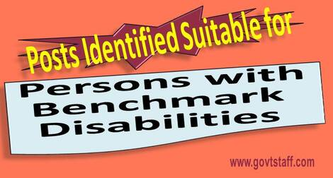 List of Posts Identified Suitable for Persons with Benchmark Disabilities