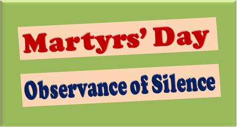 Martyrs' Day: Observance of two minutes silence at 11.30 a.m. on 30th January