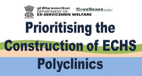 Prioritising the Construction of ECHS Polyclinics – DESW order dated 30.12.2020