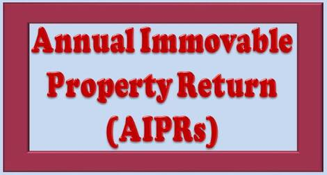 Submission of Annual Immovable Property Return (AIPRs) through SPARROW Portal only – Dept. of Posts order dated 13.01.2021