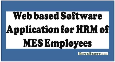 Operationalization of HRM 1.0 : Web based Software Application for HRM of MES Employees