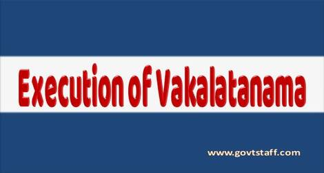 Execution of VAKALATNAMAS for filing in the Courts – Railway Board's order