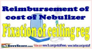 fixation of ceiling limit for nebulizer
