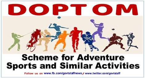 Scheme for Promotion of Adventure Sports and Similar Activities amongst Central Government Employees – YHAI Circular dated 19.02.2021