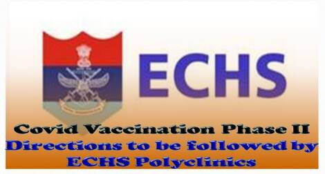 Covid Vaccination Phase II : Directions to be followed by ECHS Polyclinics – ECHS order dated 08-03-2021