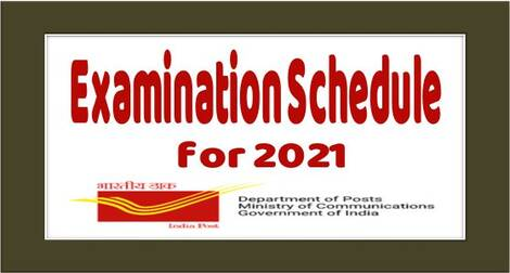 Department of Posts Complete Examinations scheduled to be held in the year 2021