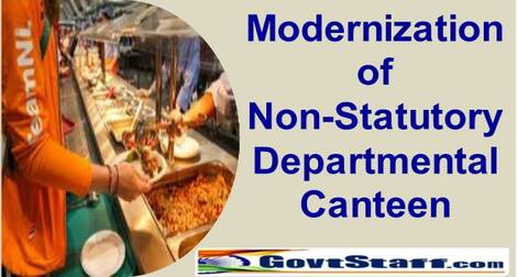 DOPT – Modernization of Non-Statutory Departmental Canteens located in central Government Office