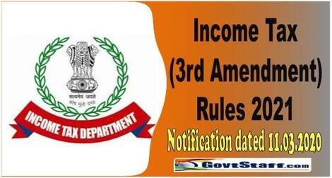 Income Tax (3rd Amendment) Rules 2021: Revised Form No. 12BA, Revised Form No. 16 for Part B (Annexure) and Form No. 24Q Annexure-II