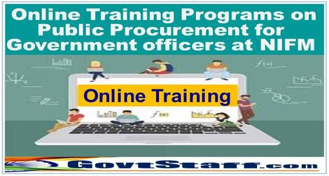 Online Training Programs on Public Procurement for Government officers at NIFM – DOPT O.M. dated 01/03/2021
