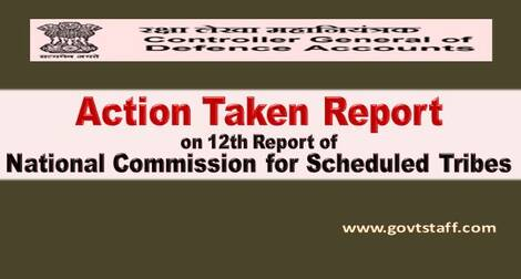 Report of National Commission for Scheduled Tribes – Action Taken Report reg