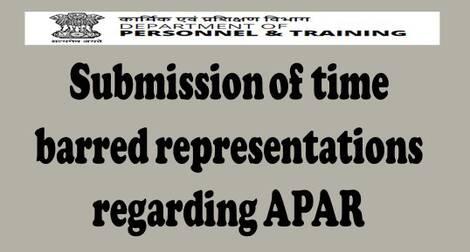 Submission of time barred representations regarding APAR