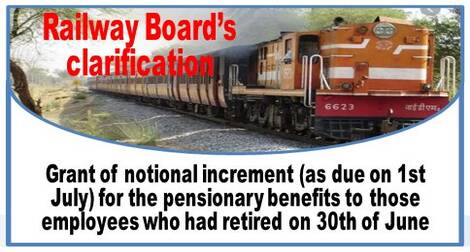 Grant of notional increment (as due on 1st July) for the pensionary benefits to those employees who had retired on 30th of June
