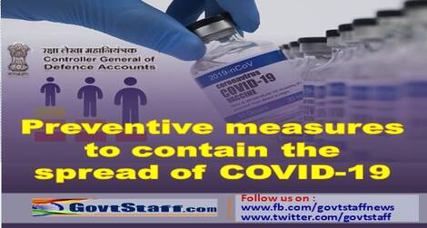 Preventive measures to contain the spread of COVID-19 – Guidelines for Defence personnel