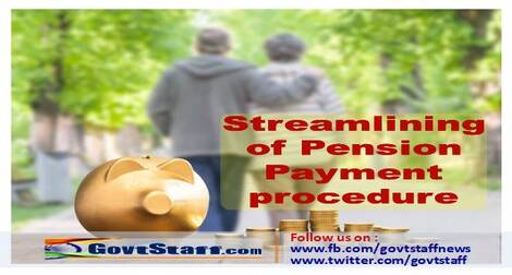 Streamlining of pension payment procedure – first identification of pensioner for release of pensionary awards