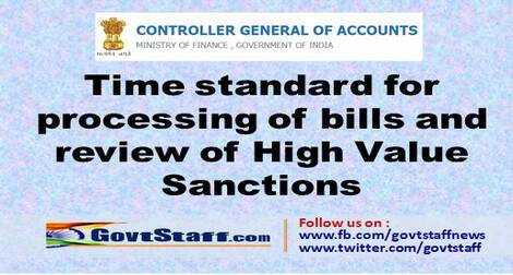 Time standard for processing of bills and review of High Value Sanctions-reg
