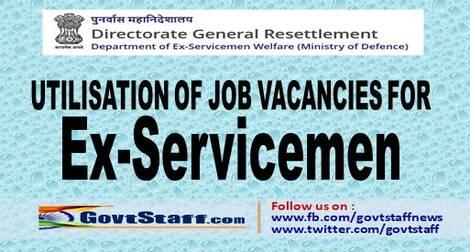 Utilization of Job vacancies for Ex-Servicemen: Circular by Director General Resettlement
