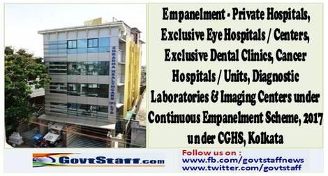 Empanelment of Shradha Health Care Pvt Ltd, Kolkata under CGHS, Kolkata