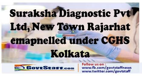 Empanelment of Suraksha Diagnostic Pvt. Ltd., Newtown, Rajarhat under CGHS, Kolkata