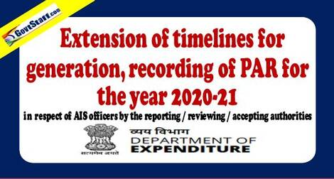 Extension of timelines for generation recording of PAR for the year 2020-21