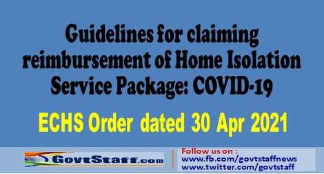 Guidelines for claiming reimbursement of Home Isolation Service Package: COVID-19