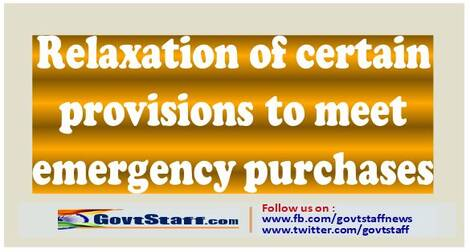 Relaxation of certain provisions to meet emergency purchases – Finmin OM F 6/18/2019-PPD dated 7-5-2021